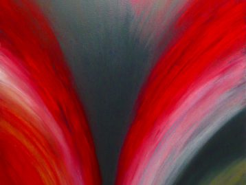 GEDANKENSTRÖME - Acrylfarben 80 x 100 cm