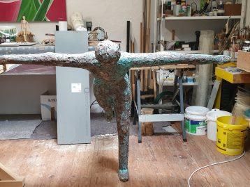"""Skulptur – """"DER RETTUNGSSCHWIMMER"""" (verkauft)"""