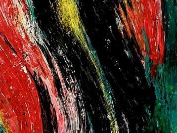 ABSTRAKT - Acryl u. Spachtel 150 X 50 cm