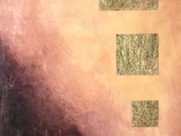 VULKAN - Acryl u. Spachtel 100 X 80 cm