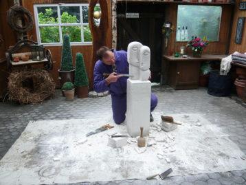 """Skulptur – """"GEDANKENAUSTAUSCH"""" (verkauft)"""